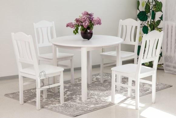 Söögilauakomplekt Ada2 100x100-178 ja Per toolid 4tk valge