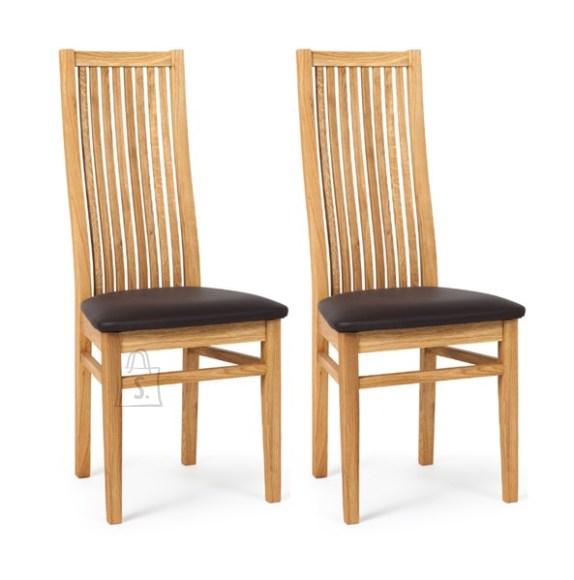 Tammepuidust toolid Sandra, must iste 2 tk