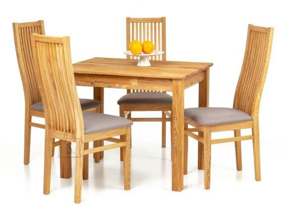 Tammepuidust söögilaud Lem 90x90 cm + 4 tooli Sandra hall