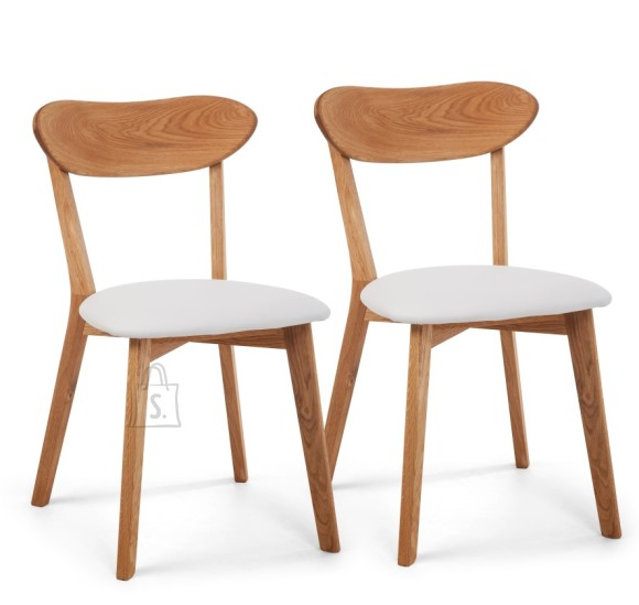 Tammepuidust toolid Irma Valge, 2 tk