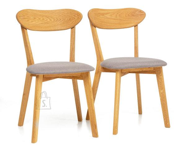 Tammepuidust toolid Irma helehall, 2 tk