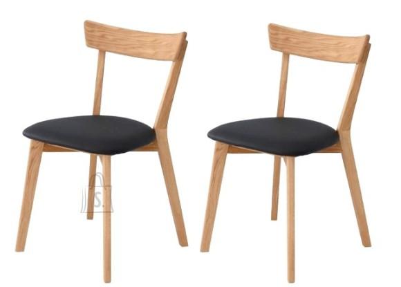 Tammepuidust toolid Viola Must 9172, 2 tk