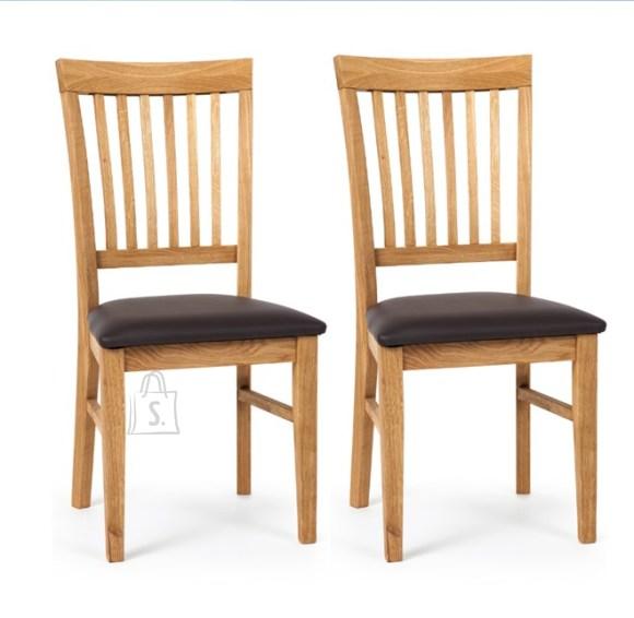 Tammepuidust toolid Ronny 2 tk, tumepruun