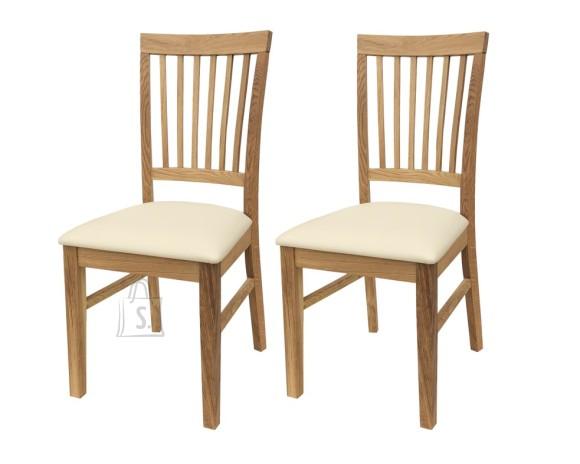 Tammepuidust toolid Ronny, 2 tk, vanilje