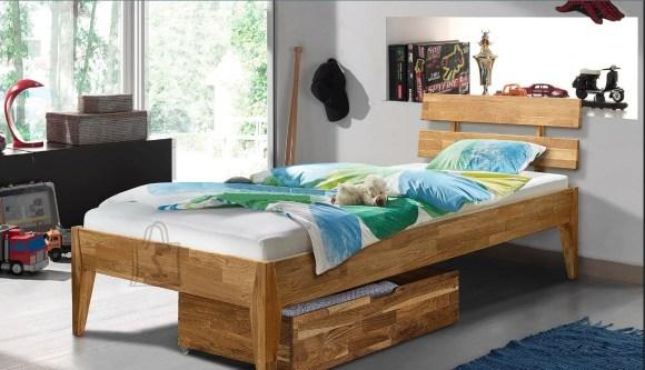 Tammepuidust voodi Elke 90x200 cm