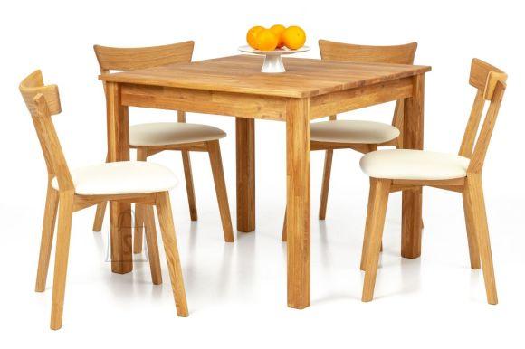 Tammepuidust söögilaud Lem 90x90 cm + 2 tooli Viola beige 9170