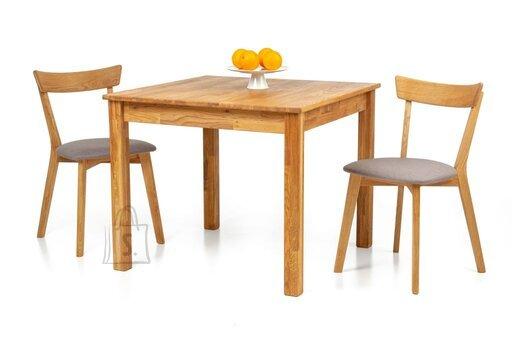 Tammepuidust söögilaud Lem 90x90 cm + 2 tooli Viola hall 9173