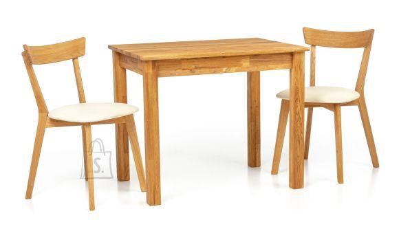 Tammepuust söögilaud Len23 90x65 cm + 2 tooli Viola beige 9170