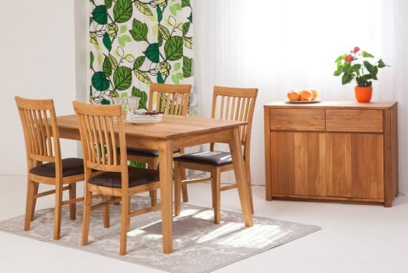 Tammepuust söögilaud Genf 160x90 cm+ 4 tooli Ron