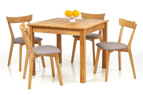 Tammepuidust söögilaud Lem 90x90 cm + 4 tooli Viola hall 9173