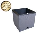Lillepott «Ruut» autonoomse kastmissüsteemiga sebra 50x50x50 cm