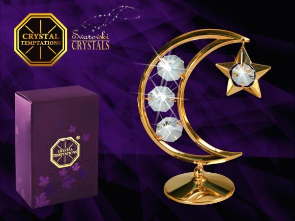 """Swarovski kristallidega kuju """"Kuu ja täht"""""""
