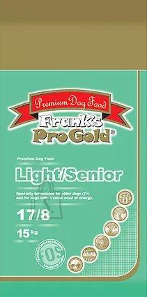 Frank's Pro Gold LIGHT/SENIOR / ülekaalulisele ja vanale koerale 15kg