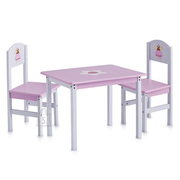 Zeller Present laste komplekt Princess laud ja 2 tooli