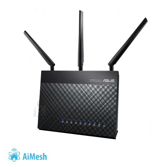 Asus Wireless Router|ASUS|Wireless Router|1900 Mbps|IEEE 802.11a|IEEE 802.11b|IEEE 802.11g|IEEE 802.11n|IEEE 802.11ac|USB 2.0|USB 3.0|1 WAN|4x10/100/1000M|Number of antennas 3|RT-AC68U