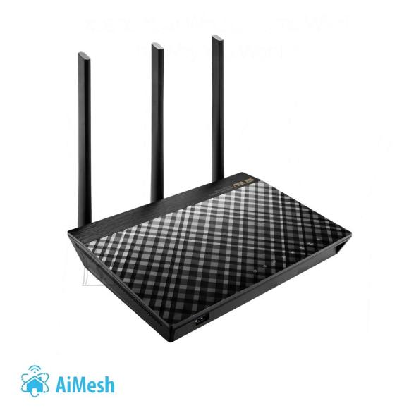 Asus Wireless Router|ASUS|Wireless Router|1750 Mbps|IEEE 802.11ac|USB 2.0|USB 3.0|1 WAN|4x10/100/1000M|Number of antennas 3|RT-AC66U