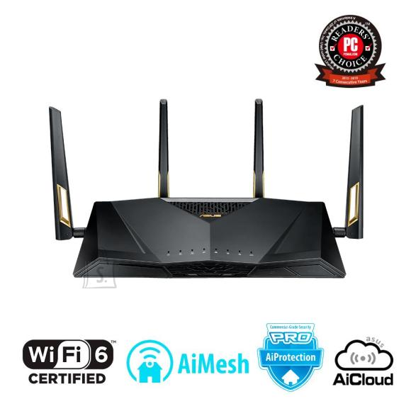 Asus Wireless Router|ASUS|Wireless Router|6000 Mbps|IEEE 802.11n|IEEE 802.11ac|IEEE 802.11ax|USB|1 WAN|8x10/100/1000M|Number of antennas 4|RT-AX88U