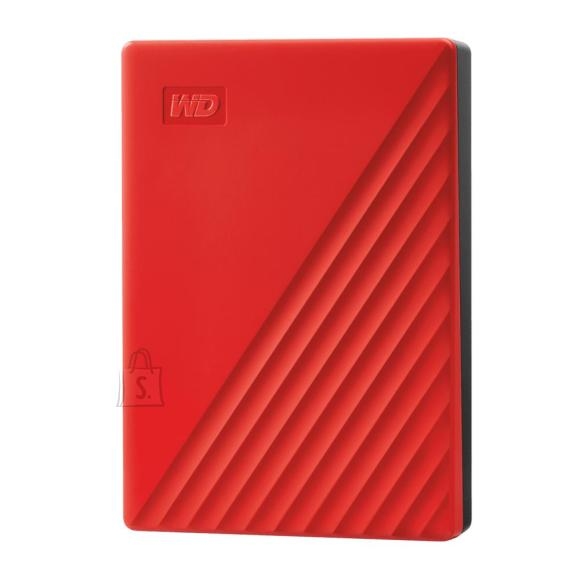 Western Digital External HDD|WESTERN DIGITAL|My Passport|4TB|USB 2.0|USB 3.0|USB 3.2|Colour Red|WDBPKJ0040BRD-WESN