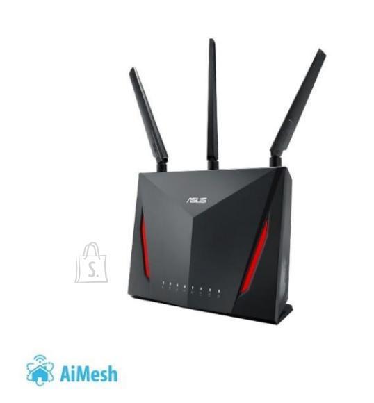 Asus Wireless Router ASUS Wireless Router 2900 Mbps IEEE 802.11ac USB 2.0 USB 3.0 1 WAN 4x10/100/1000M Number of antennas 4 RT-AC86U