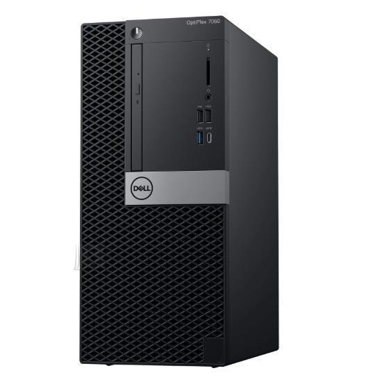 Dell PC|DELL|OptiPlex|7060|Business|MiniTower|CPU Core i5|i5-8500|3000 MHz|RAM 8GB|DDR4|2666 MHz|SSD 256GB|Graphics card Intel UHD Graphics 630|Integrated|NOR|Windows 10 Pro|Included Accessories Dell Wired Mouse MS116 Black, Dell Multimedia Keyboard|N031O7060MT_3