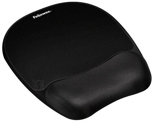 Fellowes MOUSE PAD MEMORY FOAM/BLACK 9176501 FELLOWES
