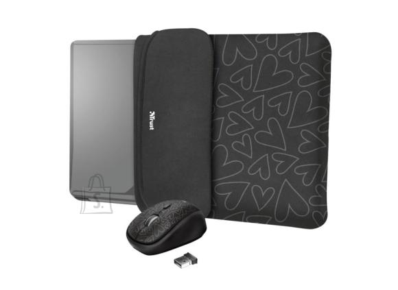"Trust NB SLEEVE +MOUSE 15.6"" YVO/REVERSIBLE BLACK 23440 TRUST"