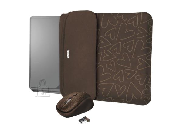 """Trust NB SLEEVE +MOUSE 15.6"""" YVO/REVERSIBLE BROWN 23446 TRUST"""