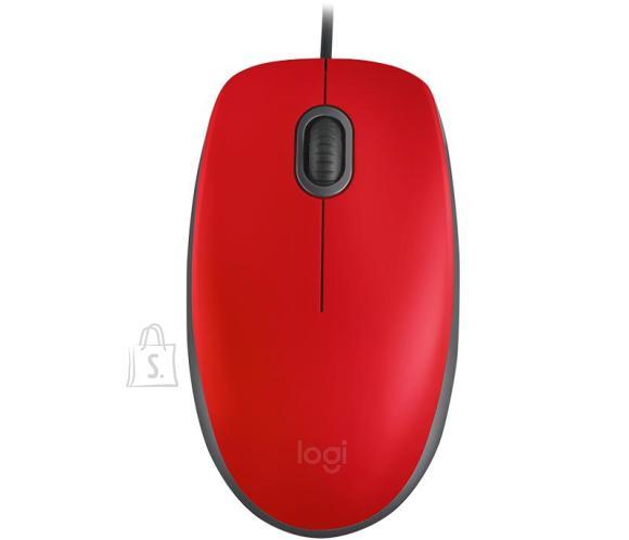 Logitech MOUSE USB OPTICAL M110 SILENT/RED 910-005489 LOGITECH