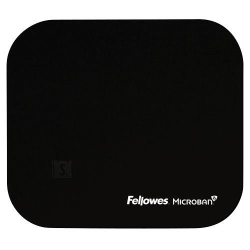 Fellowes MOUSE PAD MICROBAN/BLACK 5933907 FELLOWES