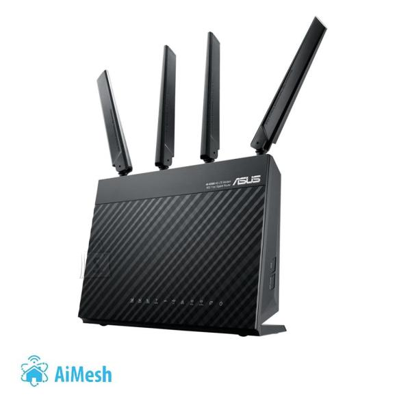 Asus Wireless Router ASUS Wireless Router 1900 Mbps IEEE 802.11ac USB 3.0 1 WAN 4x10/100/1000M 4G 4G-AC68U