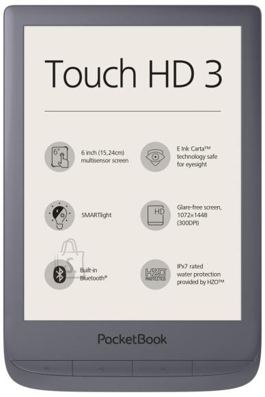 "PocketBook E-Reader|POCKETBOOK|Touch HD 3|6""|1072x1448|1xMicro-USB|Wireless LAN 802.11b/g/n|Grey|PB632-J-WW"