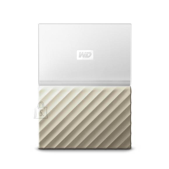 Western Digital External HDD|WESTERN DIGITAL|My Passport Ultra|WDBFKT0020BGD-WESN|2TB|USB 3.0|Colour White / Gold|WDBFKT0020BGD-WESN