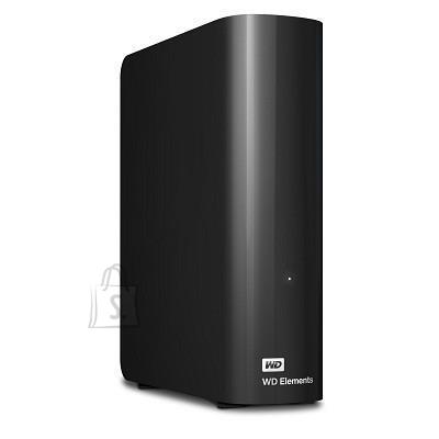Western Digital External HDD|WESTERN DIGITAL|Elements Desktop|6TB|USB 3.0|Black|WDBWLG0060HBK-EESN