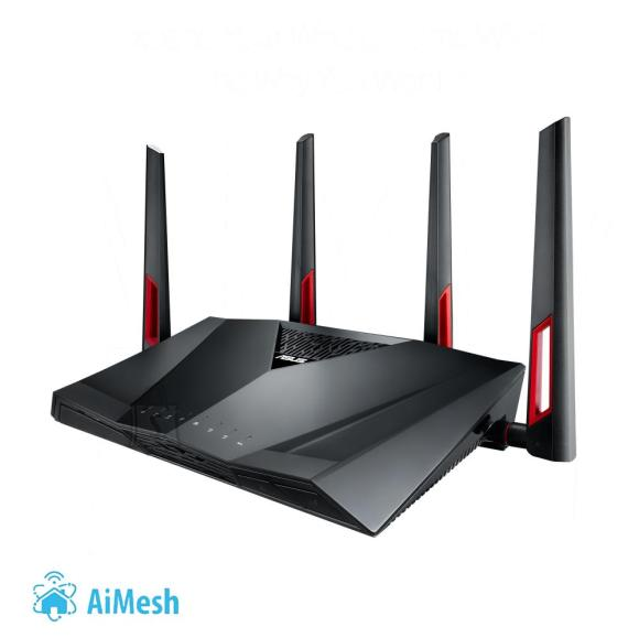 Asus Wireless Router|ASUS|Wireless Router|3200 Mbps|IEEE 802.11a|IEEE 802.11b|IEEE 802.11g|IEEE 802.11n|IEEE 802.11ac|USB 2.0|USB 3.0|1 WAN|8x10/100/1000M|Number of antennas 4|RT-AC88U