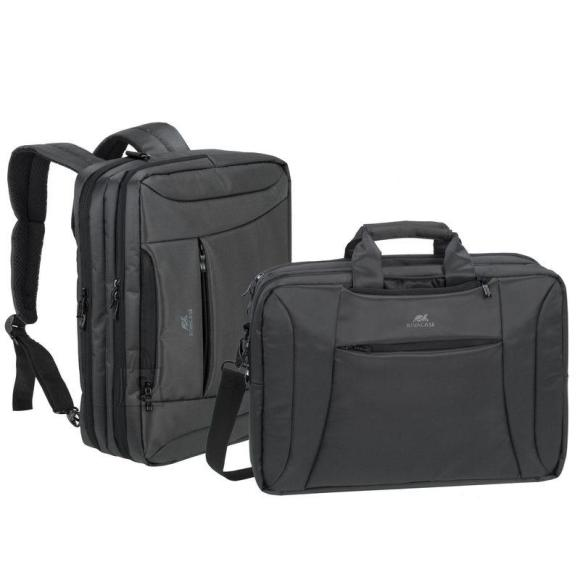 "NB BACKPACK /BAG CENTRAL 15.6""/8290 CHARCOAL/BLACK RIVACASE"