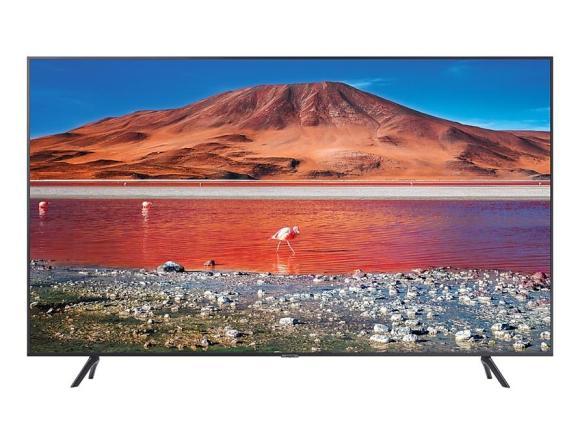 "Samsung TV Set SAMSUNG 4K/Smart 43"" 3840x2160 Wireless LAN Bluetooth Tizen Colour Silver / Black UE43TU7102KXXH"