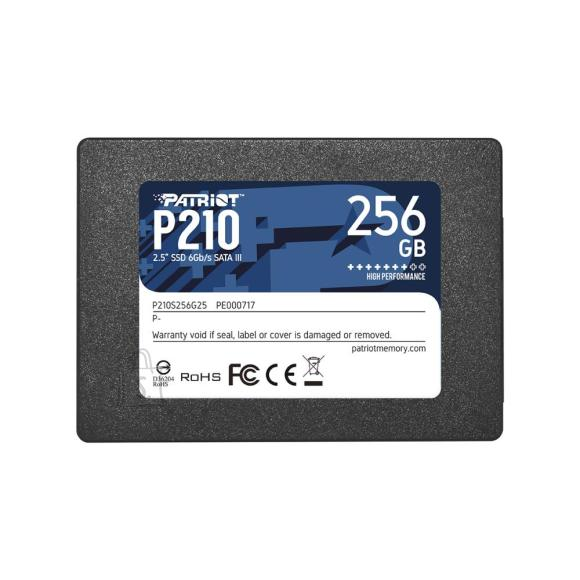 "SSD PATRIOT P210 256GB SATA 3.0 Write speed 400 MBytes/sec Read speed 500 MBytes/sec 2,5"" P210S256G25"
