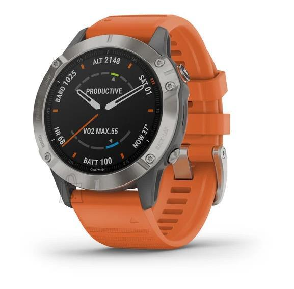 Garmin SMARTWATCH FENIX 6 SAPPHIRE/GR/ORANGE 010-02158-14 GARMIN