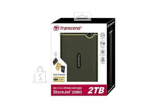 Transcend External HDD|TRANSCEND|StoreJet|2TB|USB 3.0|Colour Green|TS2TSJ25M3G