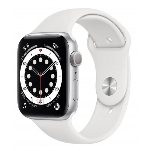 Apple SMARTWATCH SERIES6 44MM/SILVER/WHITE M00D3EL/A APPLE