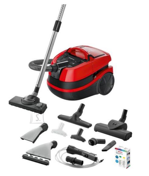 Bosch Vacuum Cleaner|BOSCH|BWD421PET|Canister/Wet/dry/Aquafilter|2100 Watts|Black / Red|Weight 7 kg|BWD421PET