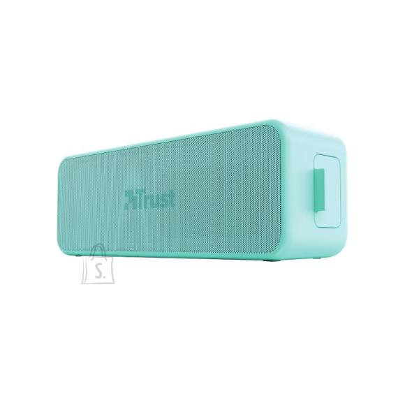 Trust Portable Speaker|TRUST|Zowy Max Stylish Bluetooth Wireless Speaker|Portable/Waterproof/Wireless|1xUSB type C|1xStereo jack 3.5mm|1xMicroSD Card Slot|Bluetooth|Mint|23827