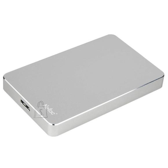 External HDD NETAC NT05K330N-001T-30SL 1TB USB 3.0 Buffer memory size 8 MB Colour Silver NT05K330N-001T-30SL