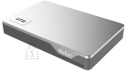 External HDD NETAC NT05K338N-001T-30SL 1TB USB 3.0 Buffer memory size 8 MB Colour Silver NT05K338N-001T-30SL