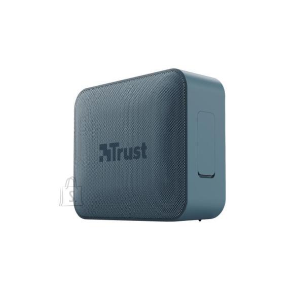 Trust Portable Speaker|TRUST|Zowy Compact|Portable/Waterproof/Wireless|1xMicro-USB|1xStereo jack 3.5mm|1xSD Card Slot|Bluetooth|Blue|23776