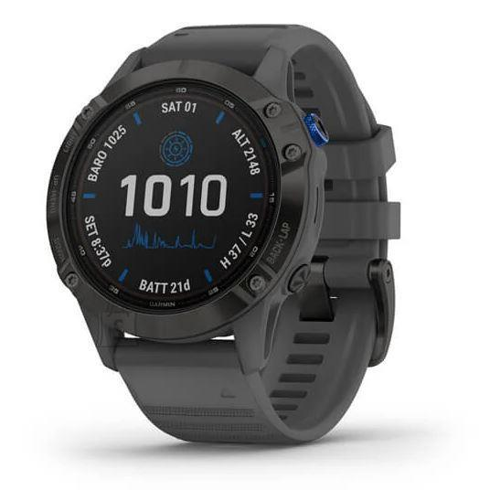 Garmin SMARTWATCH FENIX 6 PRO SOLAR/BLACK/GRAY 010-02410-11 GARMIN