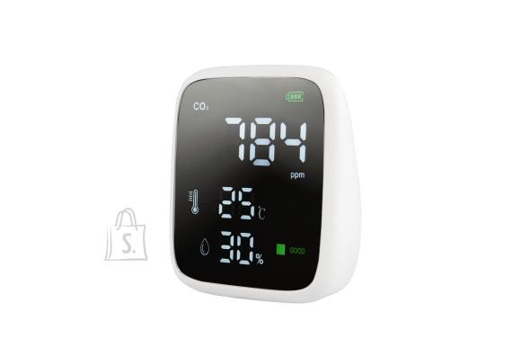 Õhukvaliteedi monitor (temperatuur, õhuniiskus, süsihappegaas)