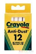 Crayola tolmuvabad valged kriidid 12 tk