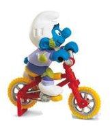 Schleich mängufiguur BMX-rattur Smurf