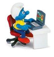 Schleich mängufiguur Sülearvutiga Smurf